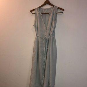 Eileen Fisher Pale Light Blue Linen Tank Dress